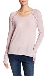 Lucky Brand Lace Trim Thermal Tee Purple