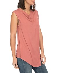 B Collection By Bobeau Nevaeh Cowl Overlay Tank Desert Sand