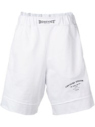 Ih Nom Uh Nit Logo Layered Shorts White