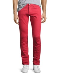 3X1 M5 Over Dyed Low Rise Slim Fit Jeans Red