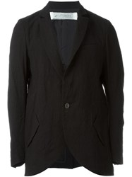 Individual Sentiments Peaked Lapel Jacket Black