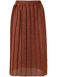 Alcoolique 'Zoe' Midi Skirt Women Polyester M Yellow Orange