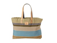 Will Leather Goods Reversible Weaver's House Blue Tote Handbags