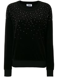 Sonia Rykiel By Embellished Sweatshirt Black