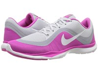 Nike Flex Trainer 6 Pure Platinum White Pink Force Wolf Grey Women's Cross Training Shoes Gray