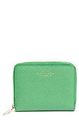 Smythson Women's 'Panama' Leather Coin Case Green Emerald