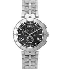 Versus S76140017 Logo Chrono Stainless Steel Watch