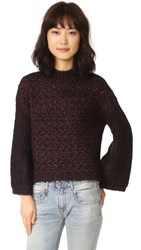 Intropia Chunky Sweater Burgundy