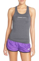 Women's Superdry 'Gym Vest' Racerback Tank Charcoal