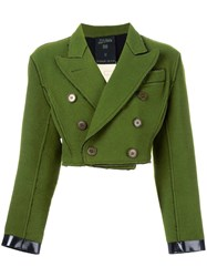 Jean Paul Gaultier Vintage Cropped Double Breasted Jacket Green