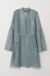 Handm H M Lace Dress Turquoise