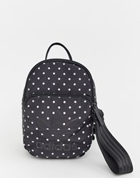 Adidas Originals Mini Backpack In Black And White Spots