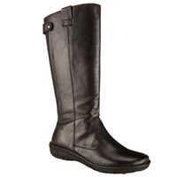 John Lewis Designed For Comfort Rolo Long Leather Calf Boots Black