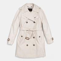 Coach Mid Length Trench Pale Stone