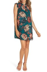 Ali And Jay Wonderful Things Floral Ruffle Neck Shift Dress Pine Floral