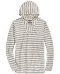 American Rag Men's Hermosa Baja French Terry Stitch Stripe Long Sleeve Hoodie T Shirt Only At Macy's Stone Block
