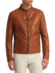 Saks Fifth Avenue Collection Banded Collar Jacket Tan