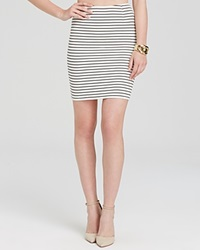 Olivaceous Skirt Striped White Navy