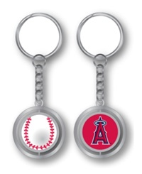 Aminco Los Angeles Angels Of Anaheim Spinning Baseball Key Ring Team Color