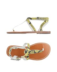 Maison Scotch Toe Strap Sandals Yellow