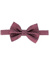 Emporio Armani Patterned Bow Tie Red