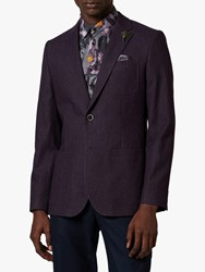 Ted Baker Mone Textured Blazer Purple