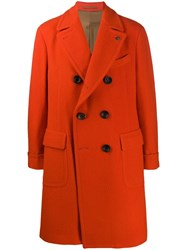 Gabriele Pasini Double Breasted Coat Orange
