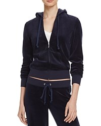 Juicy Couture Black Label Robertson Velour Zip Hoodie 100 Bloomingdale's Exclusive Regal Navy