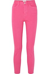 Current Elliott The Ultra High Waist Skinny Jeans Pink