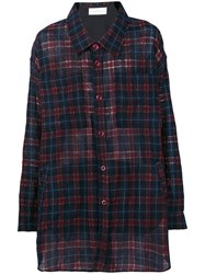 Faith Connexion Oversized Checked Shirt Red