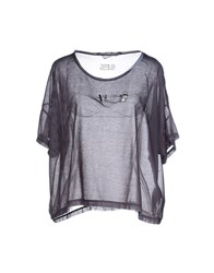 Guess Topwear T Shirts Women Steel Grey