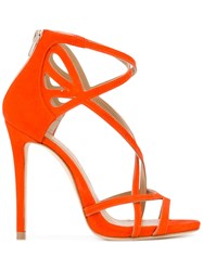 Marc Ellis Strappy Stiletto Sandals Red