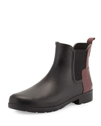 Hunter Original Refined Colorblock Chelsea Rain Boot Black Dulse Black Dulse