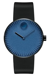 Movado Edge Anchor Rubber Strap Watch 40Mm