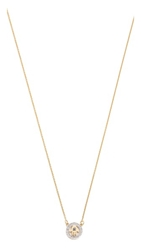 Kacey K Cutout Hamsa Necklace Gold Clear