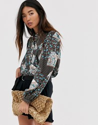 Only Western Paisley Shirt Brown
