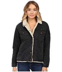 Obey Bowie Sherpa Jacket Black Women's Coat