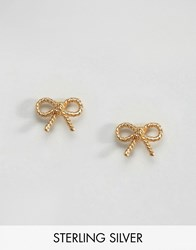 Olivia Burton Vintage Bow Earrings Gold