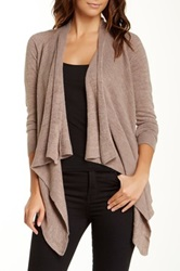 Sweet Romeo Cascade Hi Lo Cardigan Brown