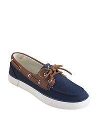 Polo Ralph Lauren Rylander Canvas Boat Shoes Navy