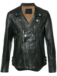 Undercover Fitted Biker Jacket Black