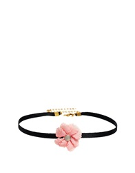 Gogo Philip Pink Flower Choker Necklace