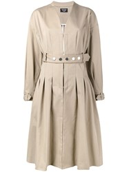Creatures Of The Wind Collarless Belted Coat Nude Neutrals