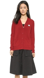 Marc By Marc Jacobs Iris Cardigan Red Pepper Multi