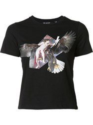 Neil Barrett Angel And Eagle Print T Shirt Black