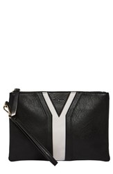 Urban Originals All She Wants Vegan Leather Clutch Black Black Grey