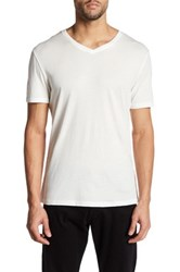 Slate And Stone Bruce V Neck Shirt White