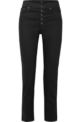 Joseph Den High Rise Straight Leg Jeans Black