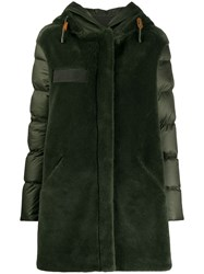 Mr And Mrs Italy Contrast Hooded Down Coat 60