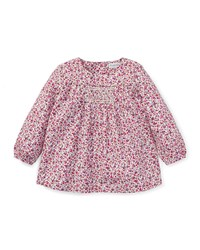 Ralph Lauren Smocked Long Sleeve Floral Top Size 6 24 Months Pink
